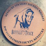 Buffalo Trace Whiskey Barrel Top Doormat RUST