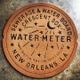 New Orleans Water Meter Doormat RUST