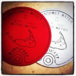 Nantucket Water Meter Doormats Red & Gray