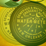 New Orleans Water Meter Mousepads BLACK/GOLD GOLD/BLACK